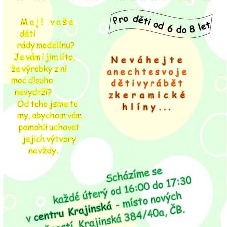 Kroužek keramiky pro děti 6-8 let - Kultura.cz faba2607b8